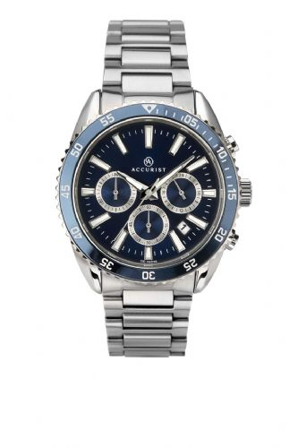 Accurist Men's Silver Chronograph Watch